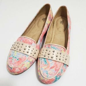 AVON Cusion Walk Spring Floral Jungle Flats Shoes